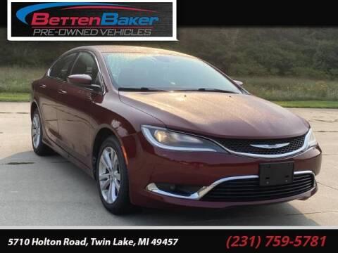 2015 Chrysler 200 for sale at Betten Baker Preowned Center in Twin Lake MI