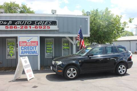 2008 BMW X3 for sale at D & B Auto Sales LLC in Washington Township MI