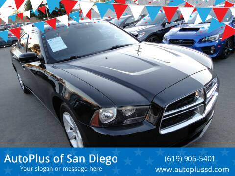 2013 Dodge Charger for sale at AutoPlus of San Diego in Spring Valley CA