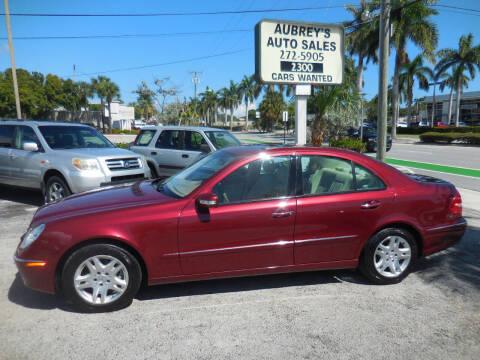 2005 Mercedes-Benz E-Class for sale at Aubrey's Auto Sales in Delray Beach FL