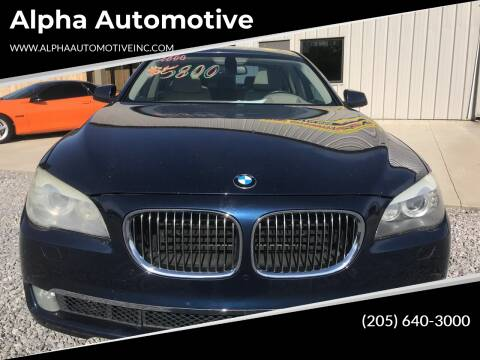 2010 BMW 7 Series for sale at Alpha Automotive in Odenville AL