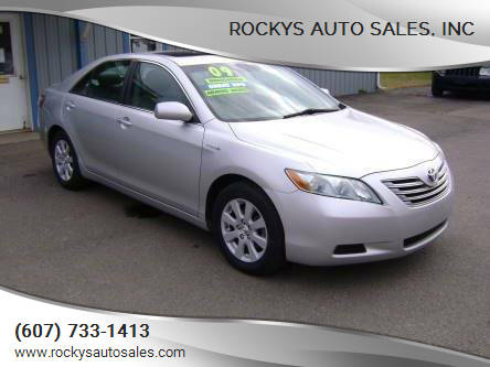2009 Toyota Camry Hybrid for sale at Rockys Auto Sales, Inc in Elmira NY