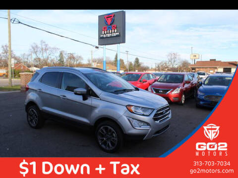 2020 Ford EcoSport for sale at Go2Motors in Redford MI