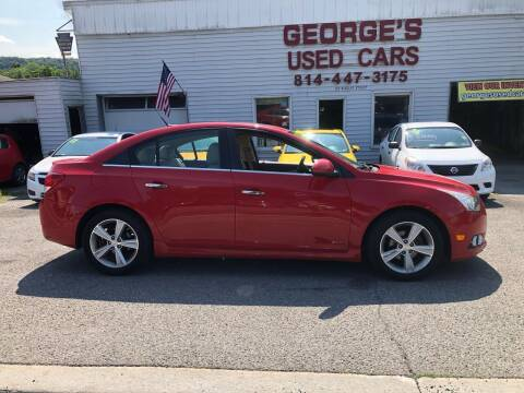 2012 Chevrolet Cruze for sale at George's Used Cars Inc in Orbisonia PA