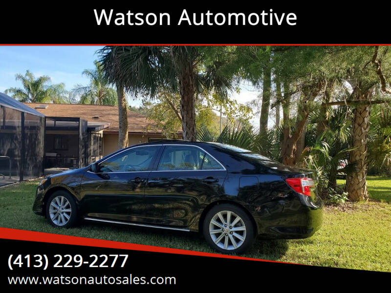 2012 Toyota Camry for sale at Watson Automotive in Sheffield MA