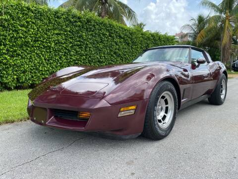 1981 Chevrolet Corvette for sale at American Classics Autotrader LLC in Pompano Beach FL