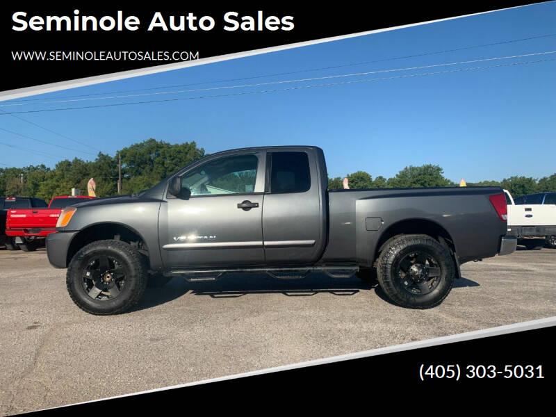 2008 Nissan Titan for sale at Seminole Auto Sales in Seminole OK