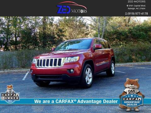 2013 Jeep Grand Cherokee for sale at Zed Motors in Raleigh NC