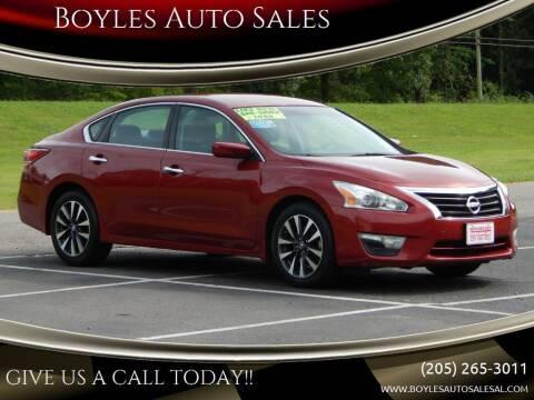 2015 Nissan Altima for sale at Boyles Auto Sales in Jasper AL