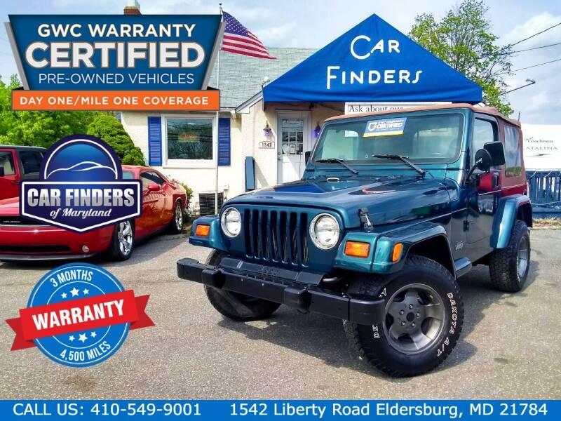 1998 Jeep Wrangler for sale at CAR FINDERS OF MARYLAND LLC - Certified Cars in Eldersburg MD