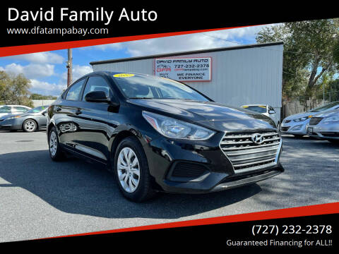 2018 Hyundai Accent for sale at David Family Auto in New Port Richey FL