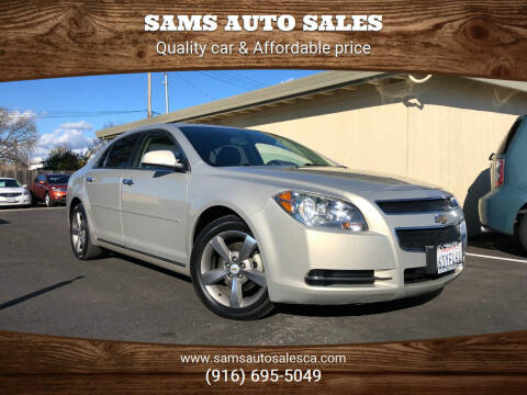 2012 Chevrolet Malibu for sale at Sams Auto Sales in North Highlands CA