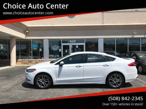 2017 Ford Fusion for sale at Choice Auto Center in Shrewsbury MA