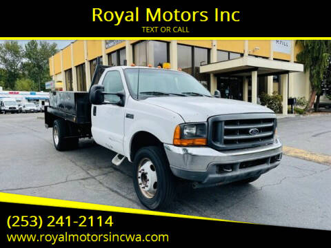 2001 Ford F-450 Super Duty for sale at Royal Motors Inc in Kent WA