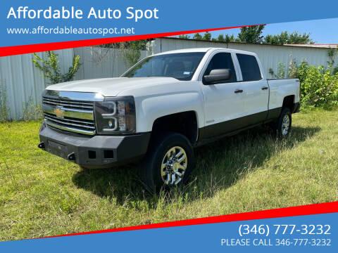 2015 Chevrolet Silverado 2500HD for sale at Affordable Auto Spot in Houston TX