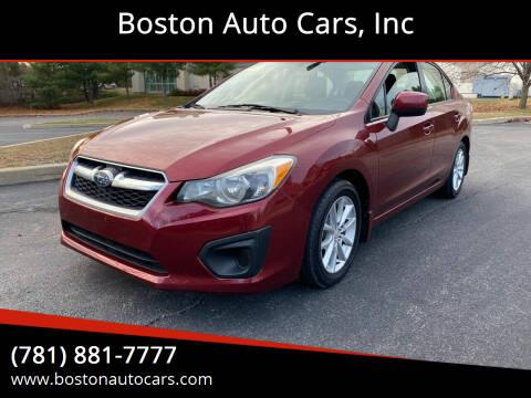 2012 Subaru Impreza for sale at Boston Auto Cars in Dedham MA