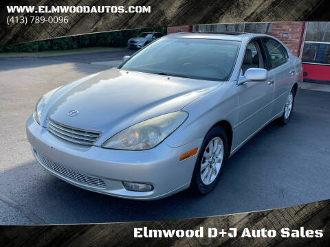 2003 Lexus ES 300 for sale at Elmwood D+J Auto Sales in Agawam MA