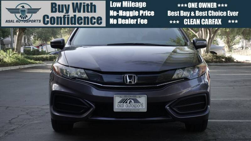 2015 Honda Civic for sale at ASAL AUTOSPORTS in Corona CA