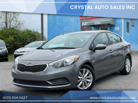 2016 Kia Forte for sale at Crystal Auto Sales Inc in Nashville TN