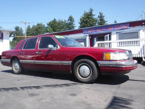 1990 Lincoln Town Car for sale at 777 Auto Sales and Service in Tacoma WA