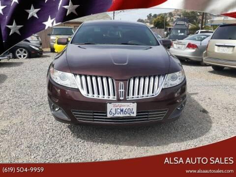 2009 Lincoln MKS for sale at ALSA Auto Sales in El Cajon CA