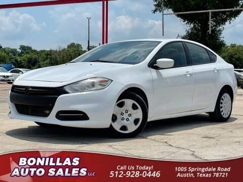 2015 Dodge Dart for sale at Bonillas Auto Sales in Austin TX