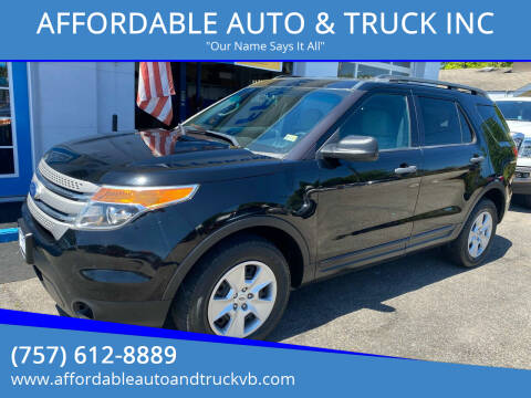 2012 Ford Explorer for sale at AFFORDABLE AUTO & TRUCK INC in Virginia Beach VA