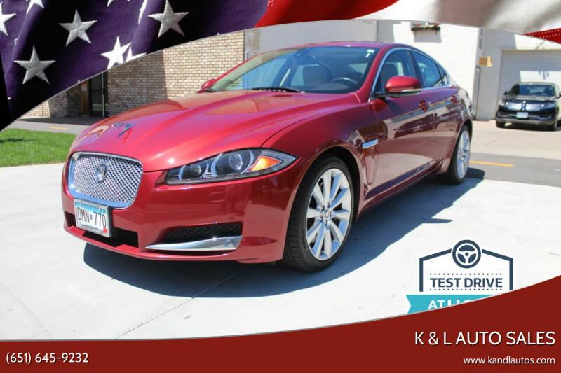 2013 Jaguar XF for sale at K & L Auto Sales in Saint Paul MN