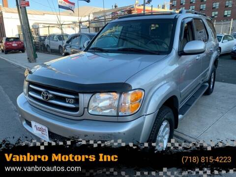 2002 Toyota Sequoia for sale at Vanbro Motors Inc in Staten Island NY