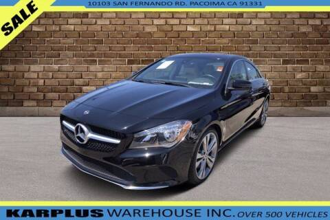 2018 Mercedes-Benz CLA for sale at Karplus Warehouse in Pacoima CA