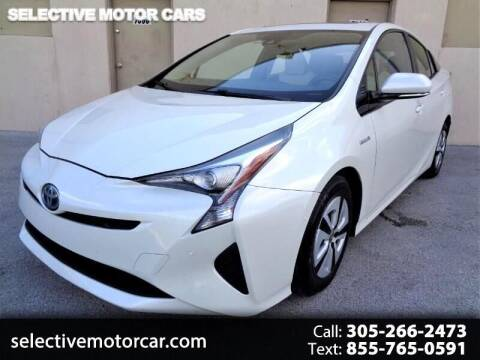 2016 Toyota Prius for sale at Selective Motor Cars in Miami FL