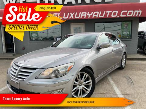 2012 Hyundai Genesis for sale at Texas Luxury Auto in Cedar Hill TX