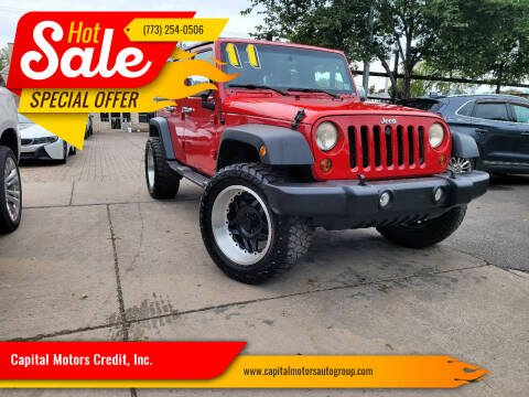 2011 Jeep Wrangler Unlimited for sale at Capital Motors Credit, Inc. in Chicago IL