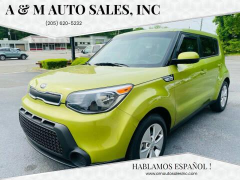 2016 Kia Soul for sale at A & M Auto Sales, Inc in Alabaster AL