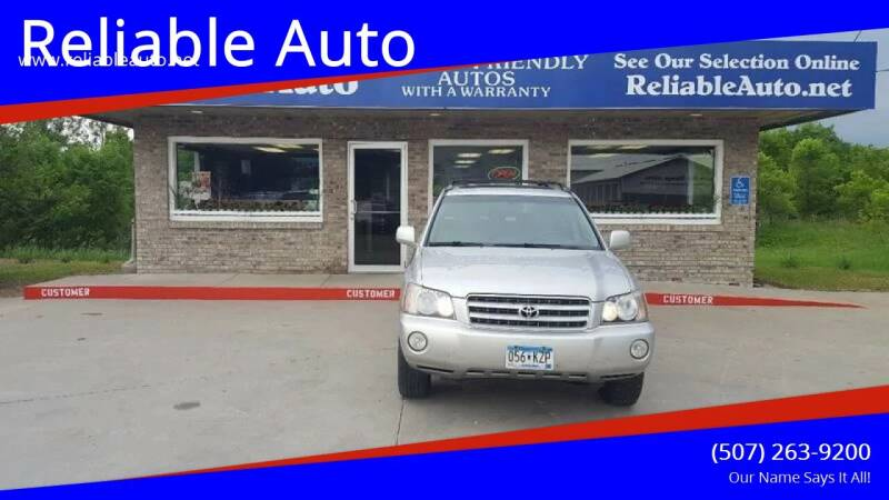2001 Toyota Highlander for sale at Reliable Auto in Cannon Falls MN
