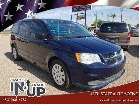 2015 Dodge Grand Caravan for sale at 48TH STATE AUTOMOTIVE in Mesa AZ
