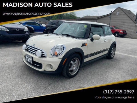 2012 MINI Cooper Hardtop for sale at MADISON AUTO SALES in Indianapolis IN