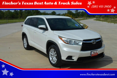 2016 Toyota Highlander for sale at Fincher's Texas Best Auto & Truck Sales in Tomball TX