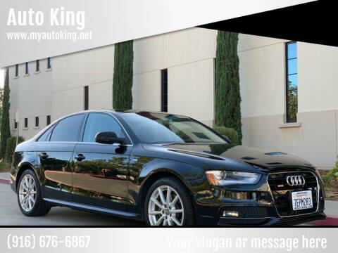 2014 Audi A4 for sale at Auto King in Roseville CA
