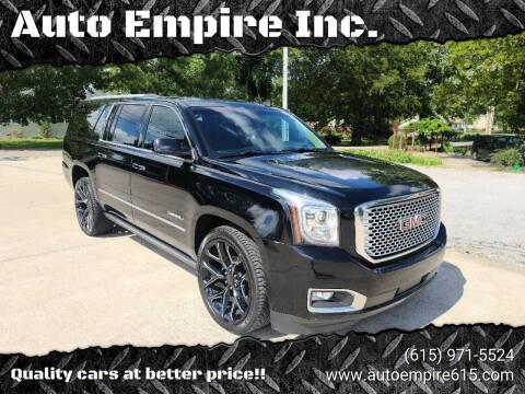 2015 GMC Yukon XL for sale at Auto Empire Inc. in Murfreesboro TN