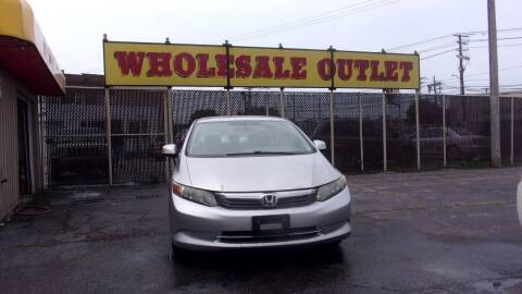 2012 Honda Civic for sale at LONG BROTHERS CAR COMPANY in Cleveland OH