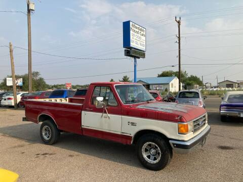 1991 Ford F-150 for sale at AFFORDABLY PRICED CARS LLC in Mountain Home ID