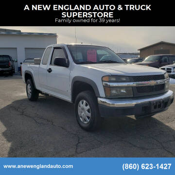 2007 Chevrolet Colorado for sale at A NEW ENGLAND AUTO & TRUCK SUPERSTORE in East Windsor CT
