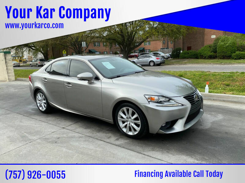 2015 Lexus IS 250 for sale at Your Kar Company in Norfolk VA