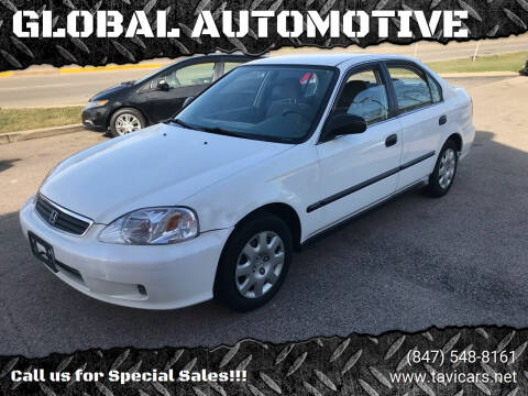 2000 Honda Civic for sale at GLOBAL AUTOMOTIVE in Gages Lake IL