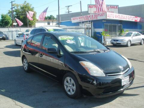 2006 Toyota Prius for sale at AUTO WHOLESALE OUTLET in North Hollywood CA