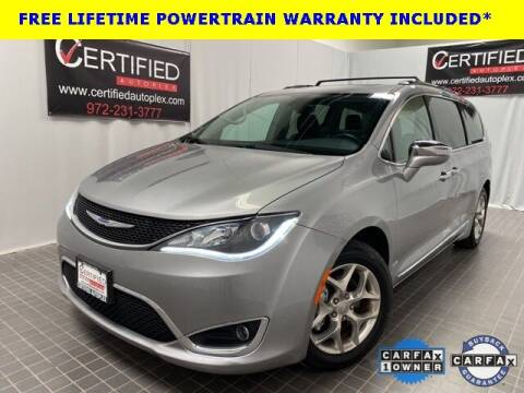 2019 Chrysler Pacifica for sale at CERTIFIED AUTOPLEX INC in Dallas TX