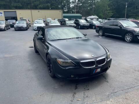 2006 BMW 6 Series for sale at GEORGIA AUTO DEALER, LLC in Buford GA