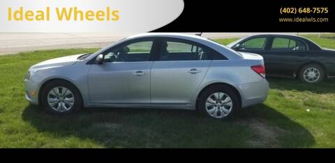 2012 Chevrolet Cruze for sale at Ideal Wheels in Bancroft NE
