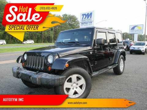 2007 Jeep Wrangler Unlimited for sale at AUTOTYM INC in Fredericksburg VA